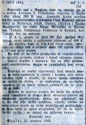izrok SL 03 03 1915 Mahmic, Mujcinovic, Mrvoljak